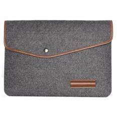 Untuk HP IBM Mac Book Air/Pro Wol Merasa 13 Inci Sarung Laptop Case Tas Ukuran: 34X24 Cm-Abu-abu Gelap