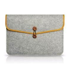 For HP IBM MacBook Air / Pro Woolen Felt 15-inch Laptop Sleeve Bag Case, Size: 37 x 27cm - Grey
