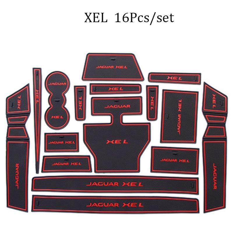 Untuk Jaguar Xel 16 Pcs/set Mobil Alas Interior Interior Pintu Alas/Cangkir Non-slip Tikar-Internasional