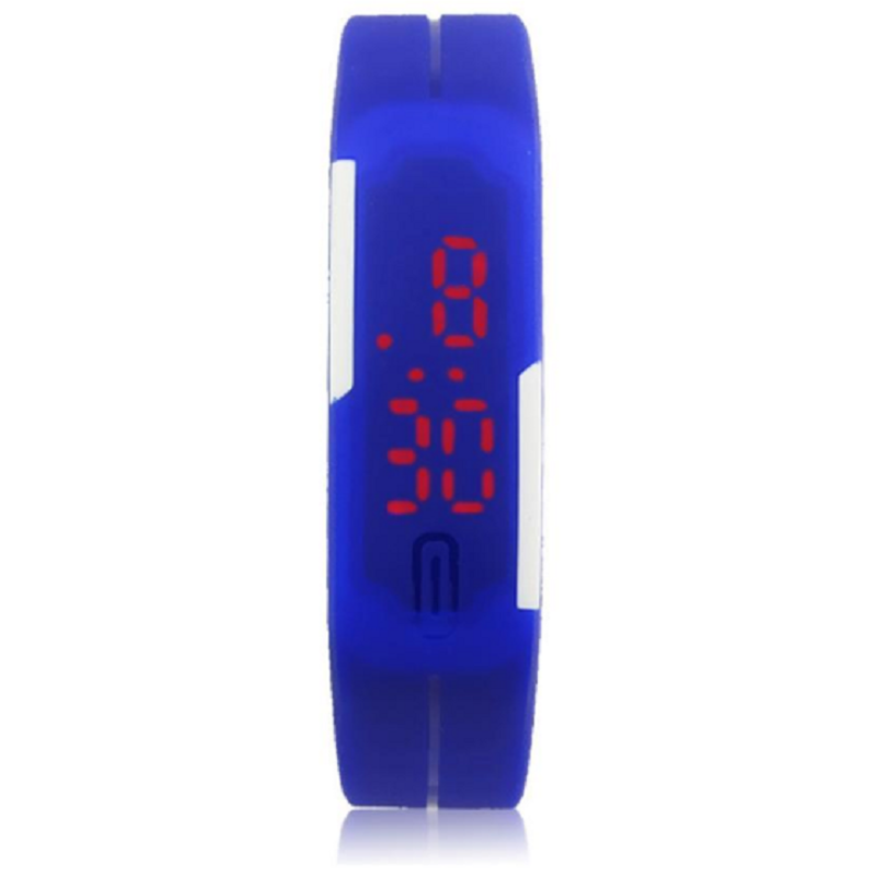 Foreign Trade Explosion Models Silicone LED Students Electronic Bracelet Watch (Blue) Malaysia
