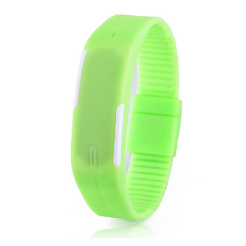 Foreign Trade Explosion Models Silicone LED Students Electronic Bracelet Watch (Green) Malaysia