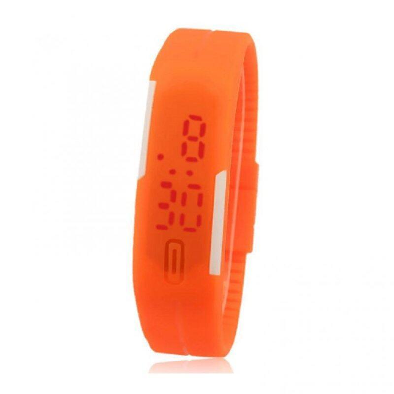 Foreign Trade Explosion Models Silicone LED Students Electronic Bracelet Watch (Orange) Malaysia