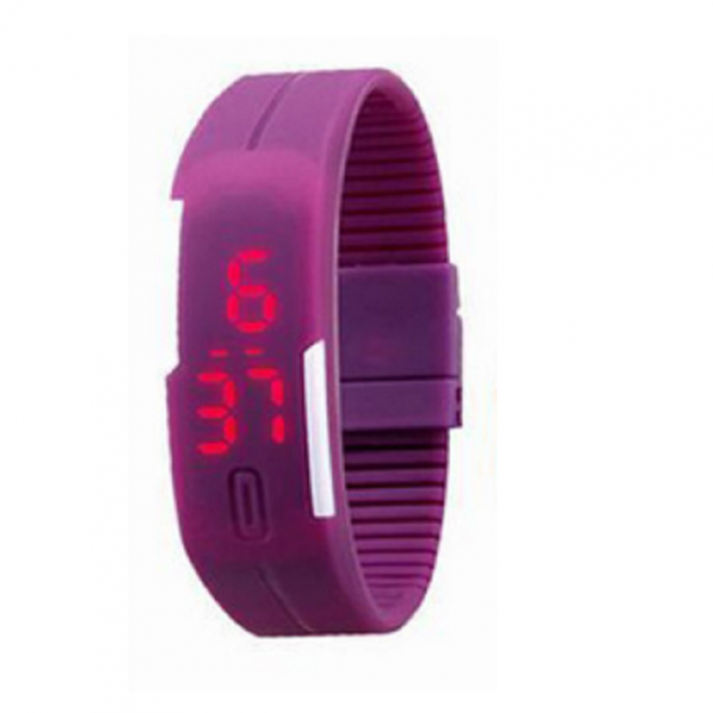 Foreign Trade Explosion Models Silicone LED Students Electronic Bracelet Watch (Purple) Malaysia