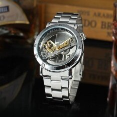 FORSINING Luxury Skeleton Automatic Mechanical Men Watch Self-Wind Stainless Steel/Genuine Leather Man Business Wristwatch Masculino Relogio + Box Malaysia