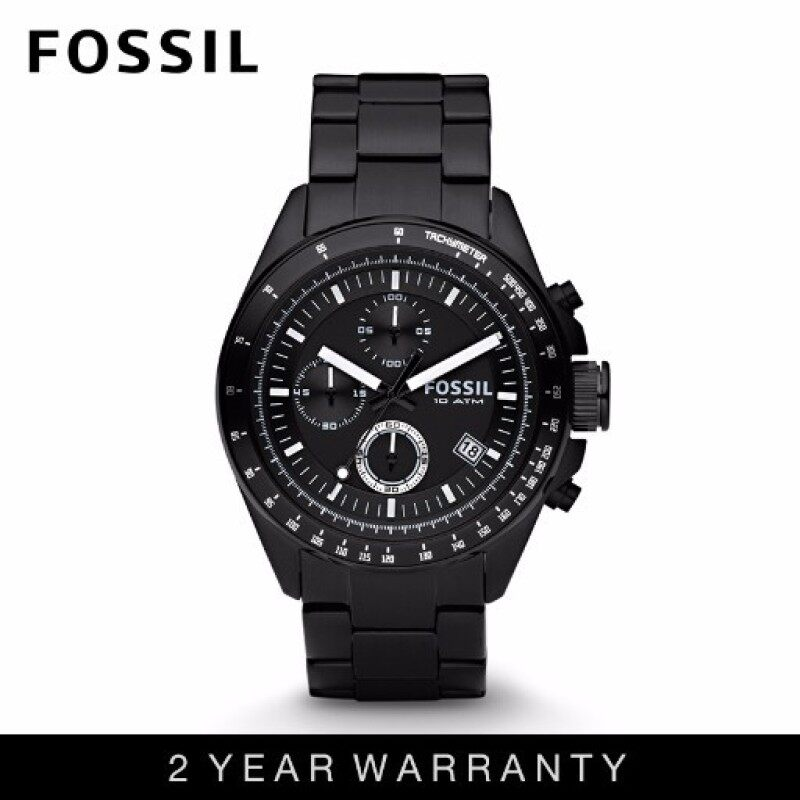 Fossil CH2601 Mens Decker Chronograph Black Stainless Steel Watch Malaysia