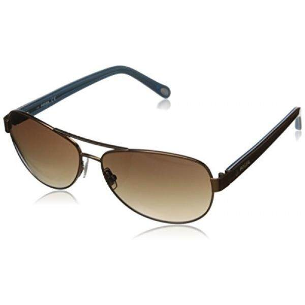 Fossil FOS2004S Aviator Sunglasses,Matte Brown,58 mm - intl
