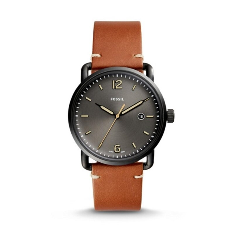 Fossil FS5276 Commuter Luggage Leather Analog Mens Watch Malaysia