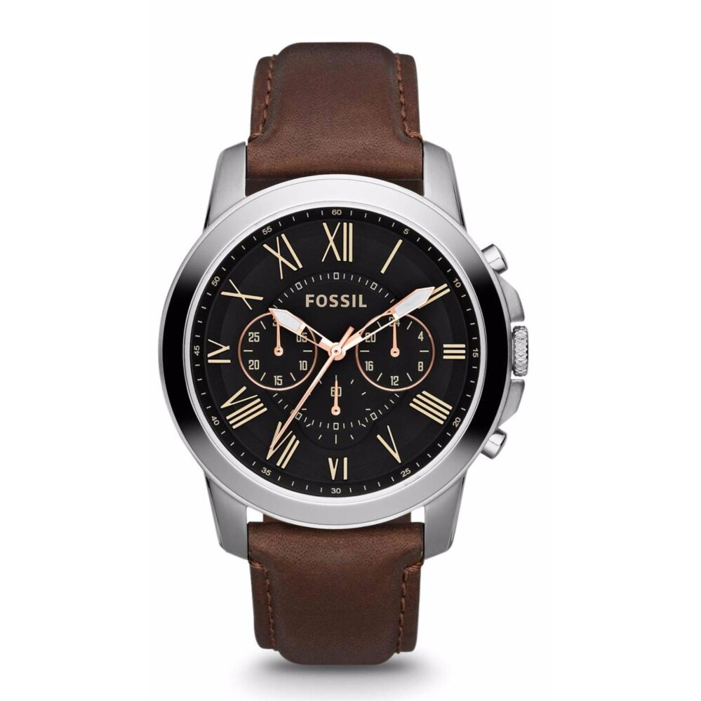 Fossil_Mens Grant Chrono Brown Leather Watch FS4813 Malaysia