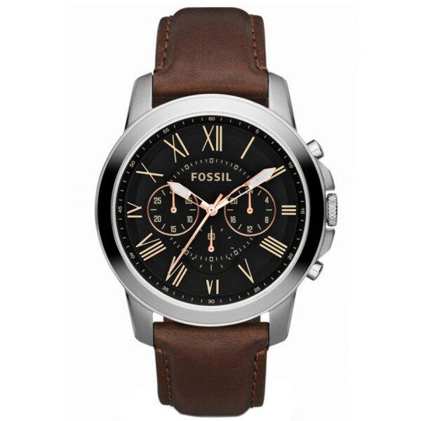 Fossil ORIGINAL FS4813 Mens Grant Chronograph Leather Watch Malaysia