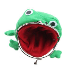 [wfc]uebfashion Frog Fluff Coin Purse Wallet Cartoon Green Cute By Uebfashion