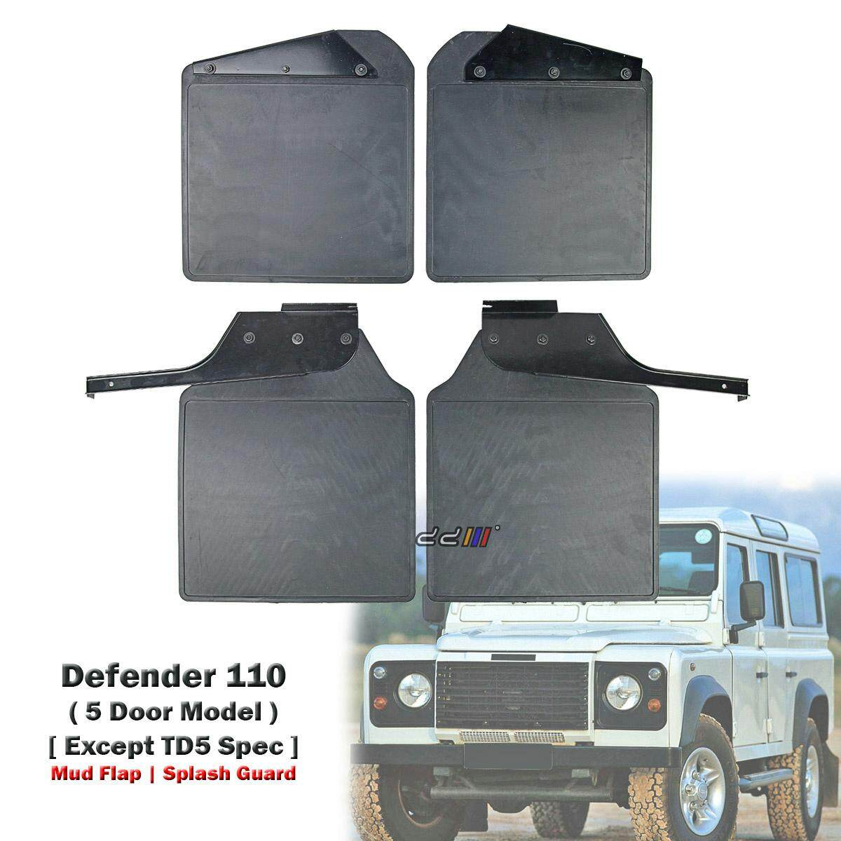 Front + Rear Mud Flap Splash Guard For Land Rover Defender 110 5dr 200 300 Tdi V6 By Carpartsmy..