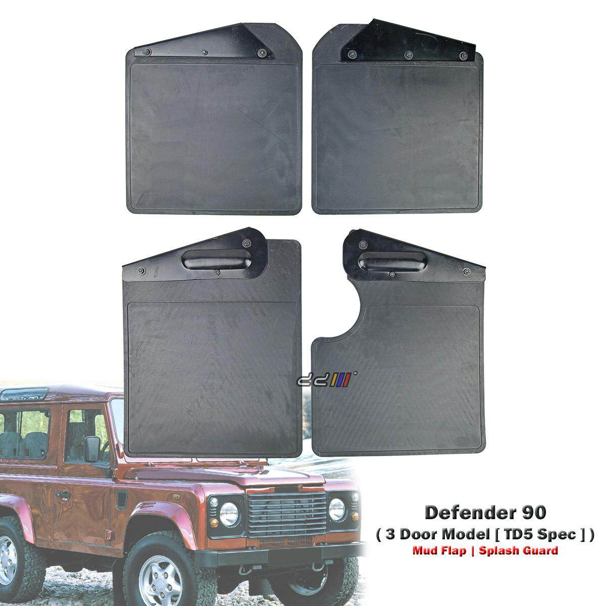 Front + Rear Mud Flap Splash Guard For Land Rover Defender 90 3dr 2.5l Td5 1998-2006 By Carpartsmy..