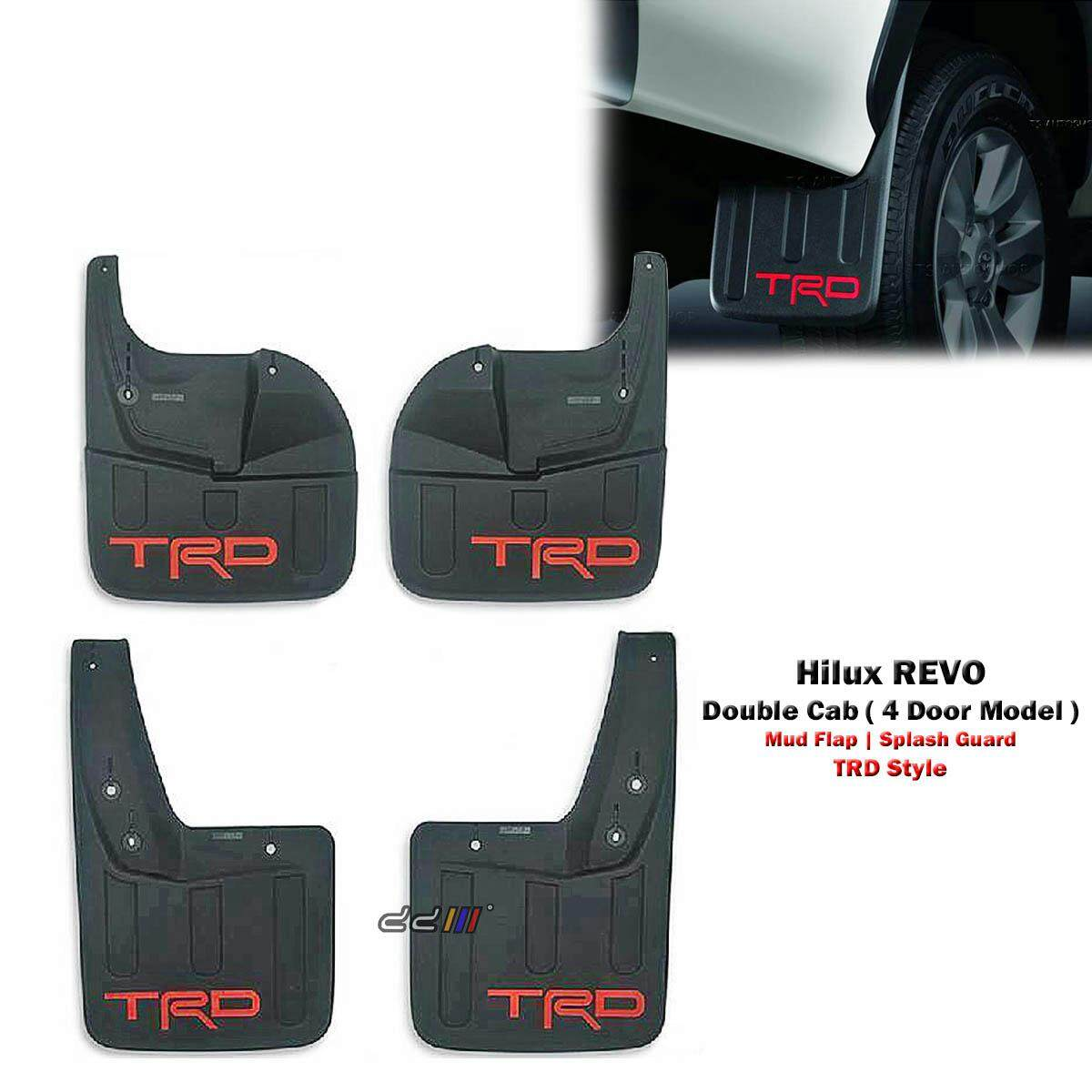Front Rear Mud Flap Splash Guard For Toyota Hilux Revo 4dr M70 M80 2015 Onwards By Carpartsmy..