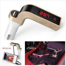 G7 Bluetooth Car Kit Handsfree Fm Transmitter Radio Mp3 Player Usb Charger & Aux By Mintonstore.