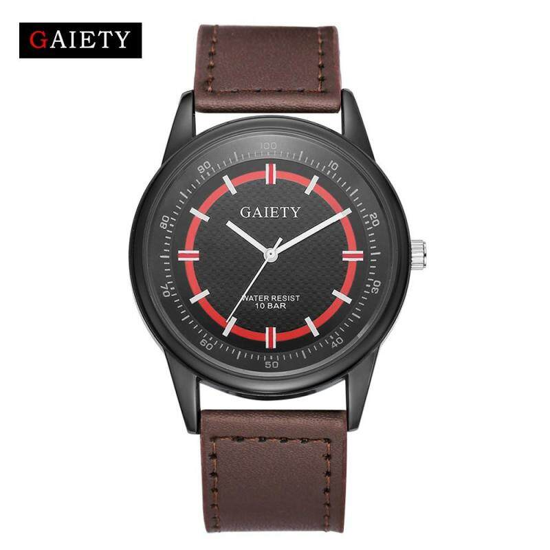GAIETY G039 Retro Design Luxury Mens Watch Stainless steel Leather Analog Quartz Watches Coffee Malaysia