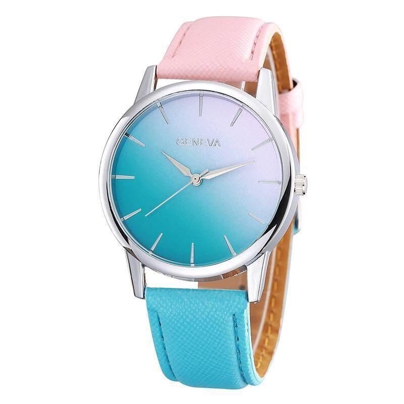 Geneva Fashion Woman Gradient Color Watch - Pink Blue Malaysia