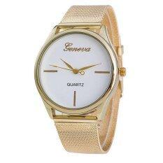 Geneva Lady Watches Jewelry Gold High Quality Quartz Watch Gold White Malaysia