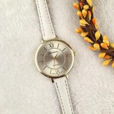 Geneva Platinum Fashion Classic Leather Quatrz Watch For Woman (White) Malaysia