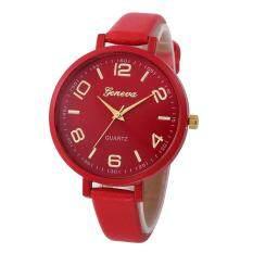 Geneva Women Faux Leather Analog Quartz Wrist Watch