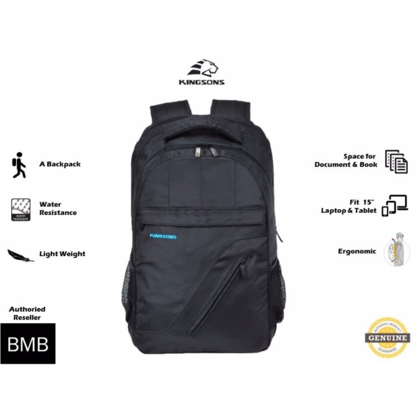 EverCute Genuine Authentic Direct Ship from Malaysia Kingsons Shockproof Air Anti-Thief Travel Outdoor Business Casual 15.6 Inch Waterproof Laptop Backpack For Men Women Computer Bag KS6141W