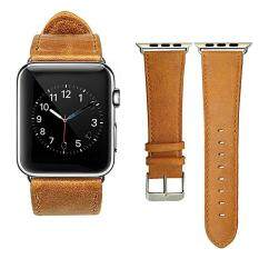 Genuine Leather 42mm Replacement Band with Secure Metal Clasp Buckle for Apple Watch Sport Edition Malaysia