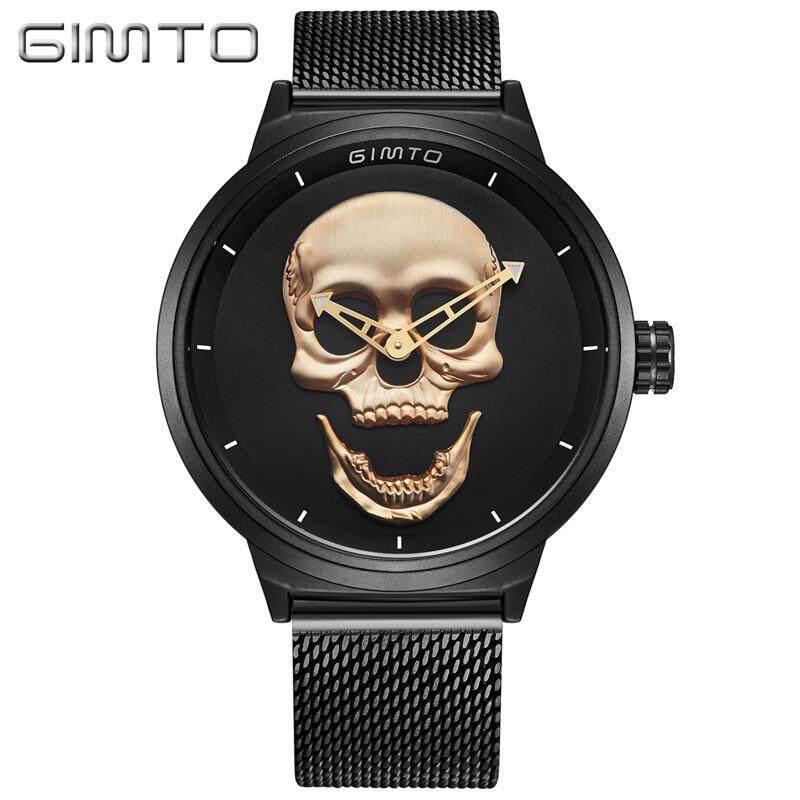 Gimto Metal Mesh Belt Quartz Skull Skull Head Pattern Watch Gm241 Malaysia