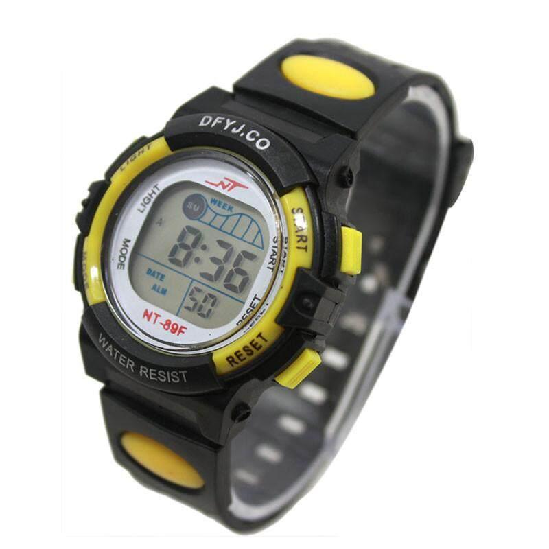 Perempuan Anak Laki-laki Ringan Pergelangan Tangan Jam Tangan Alarm Tanggal Digital Multifungsi Olahraga Ye