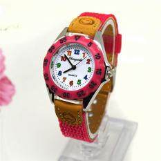 Giá bán Girls Alloy Fabric Strap Student Wristwatch Gifts