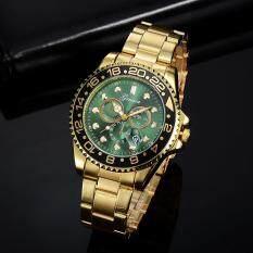 GONEWA Men Fashion Military Stainless Steel Analog Date Sport Quartz Wrist Watch Malaysia
