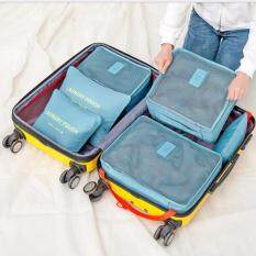 GoTravel 7005 Korean Multifunction Set 6 in 1 Clothes Storage Travel Luggage Organizer Bag (Blue