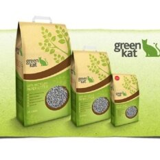 Green Kat 100% Recycled Cat Litter - 24l X 2 By One Stop Petz Centre.