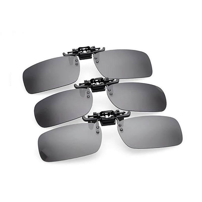 Grey fashion Mens Womens Polarized Clip on lens Driving Sunglasses Eyeglass Malaysia