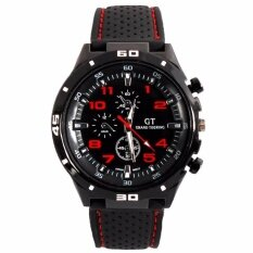 GT GRAND TOURING Military Pilot Silicone Band Quartz Analog Sport Watch- Red Malaysia