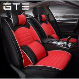 5 Seats Car Seat Cover Front+Rear Cushion Linen W//Pillows For All Weather Size L