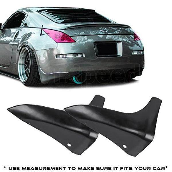 GTSpeed Made fr 03-09 Nissan 350Z Fairlady Z Z33 JDM Rear PU Bumper Lip Mud Splash Guards (Use measurement to make sure it fits your car) - intl