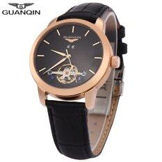 GUANQIN GJ16029 Men Tourbillon Auto Mechanical Watch Water Resistance Transparent Back Cover Calendar Wristwatch Malaysia