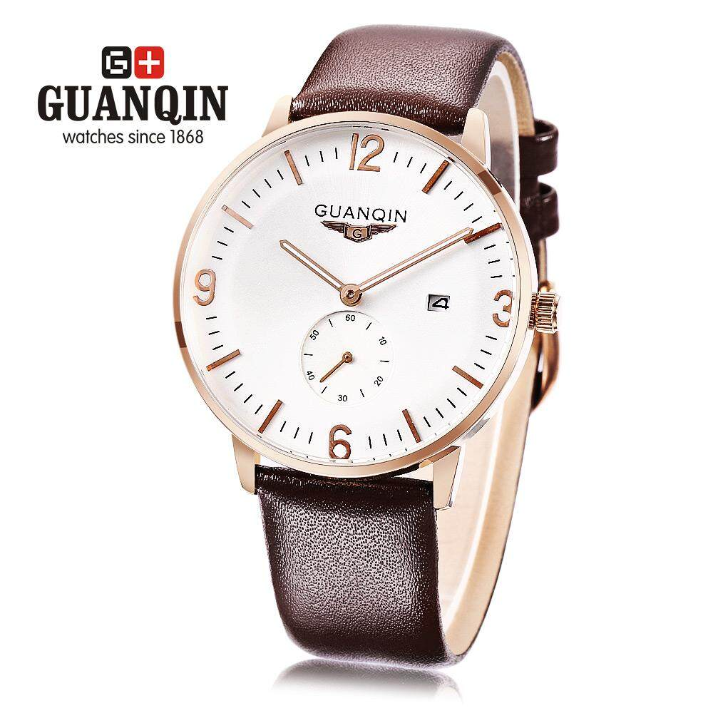 For Sale Guanqin Gq13007 Male Quartz Watch Stopwatch Calendar Men Wristwatch Intl