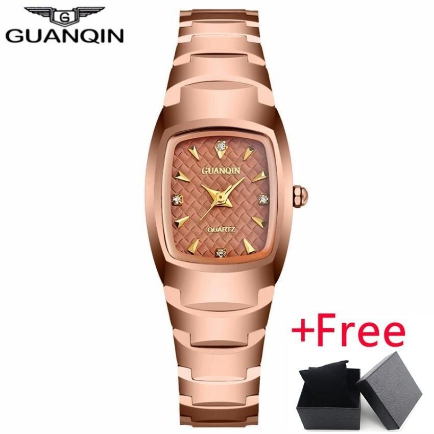 GUANQIN Womens Fashion Oval Quartz Watch Jam Tangan Ladies Series Jewelry Luxury Tungsten Steel Business Bracelet Watch Jam Tangan es felogio feminino,GQ30005 - intl bán chạy