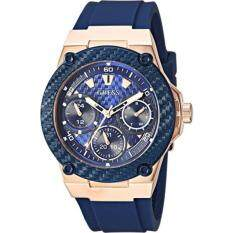 GUESS Womens Quartz Stainless Steel Casual Watch, Color:Blue (Model: U1094L2)