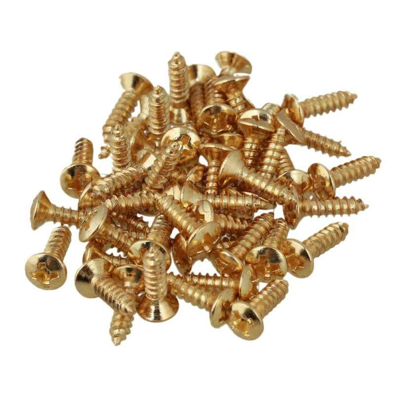 Guitar Bass Pickguard Screw Set of 50 Gold Malaysia
