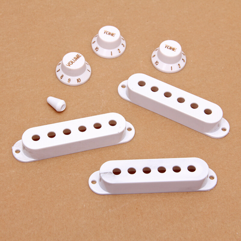 Guitar Pickup Cover and Knobs Switch Tip Set White Malaysia