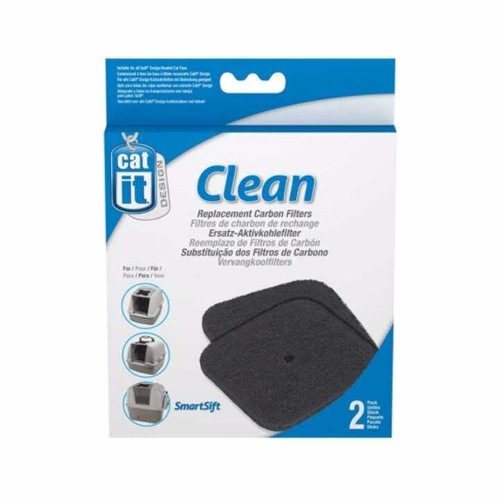 Hagen Catit Hooded Cat Pan Replacement Carbon Filters - 2 pack