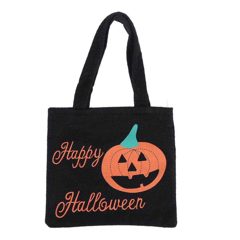 Halloween Non-woven Handbag Ghost Festival Child Gift Candy Bag Prop Bag(Black) - intl