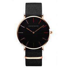 Hannah Martin Unisex Casual Wristwatch Round Dial Waterproof Quartz Watch with Leather Strap for Students Style:HM-1230-HR-FN Malaysia