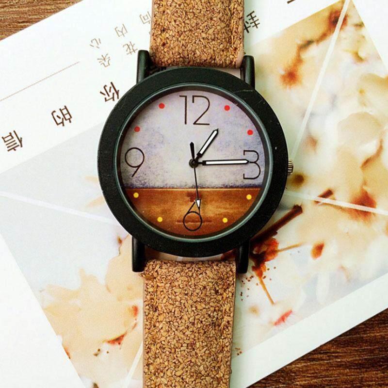 Nơi bán Harajuku Graffiti Pattern Leather Band Analog Quartz Vogue Wrist Watches Gifts