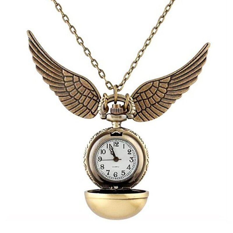 Harry Potter Snitch Watches Necklaces Steampunk Quidditch Pocket Pendant gold Malaysia