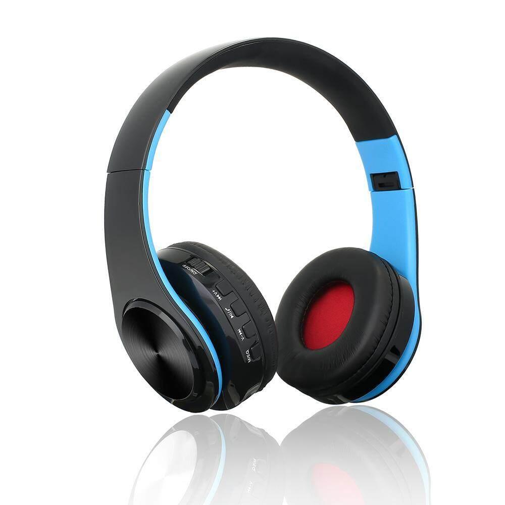 Hazobau Bluetooth Headset, lebih-Telinga Nirkabel Berkabel Stereo Headphone Dukung Kartu TF Kebisingan Cancelling Dibangun Di-Dalam Mikropon Tangan-Bebas Telepon Panggilan olahraga Game Buah Earphone-Internasional