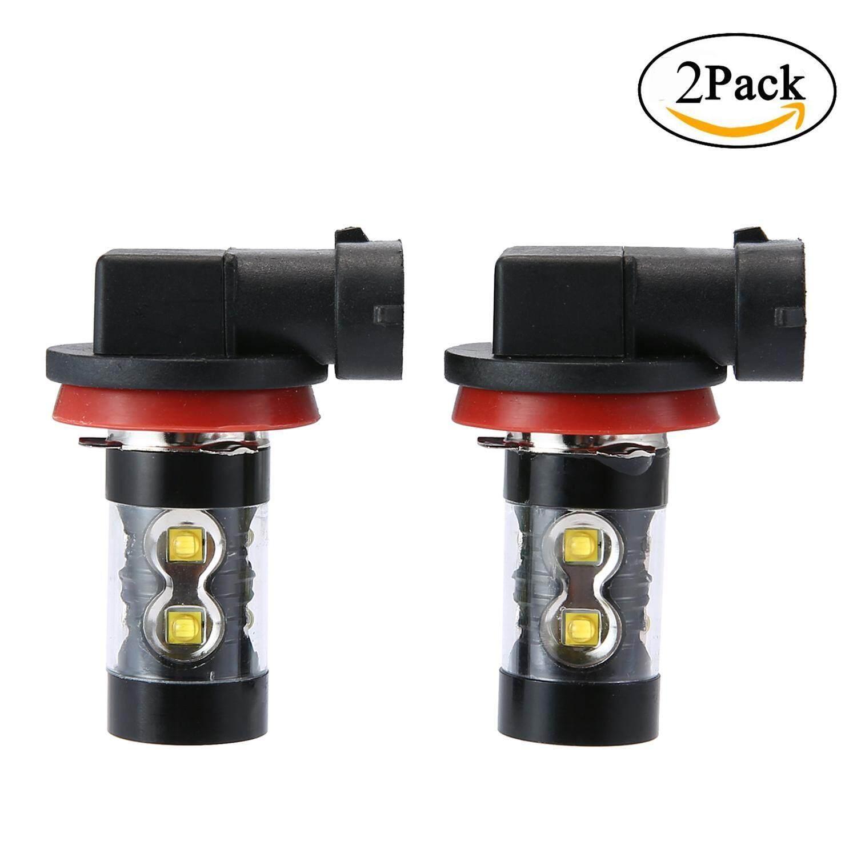 Hazobau LED Kabut Ringan H11, super Cerah Tinggi Daya 50 W 6000 K LED Putih untuk Kabut atau Lampu Jalan Siang Hari Lampu, 2 Pieces-Internasional