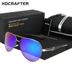 d013e07dc86 HDCRAFTER 2017 Brand Designer Mens Sunglasses Metal Frame Polarized Lens  Sun Glasses for Driving Fashion Men