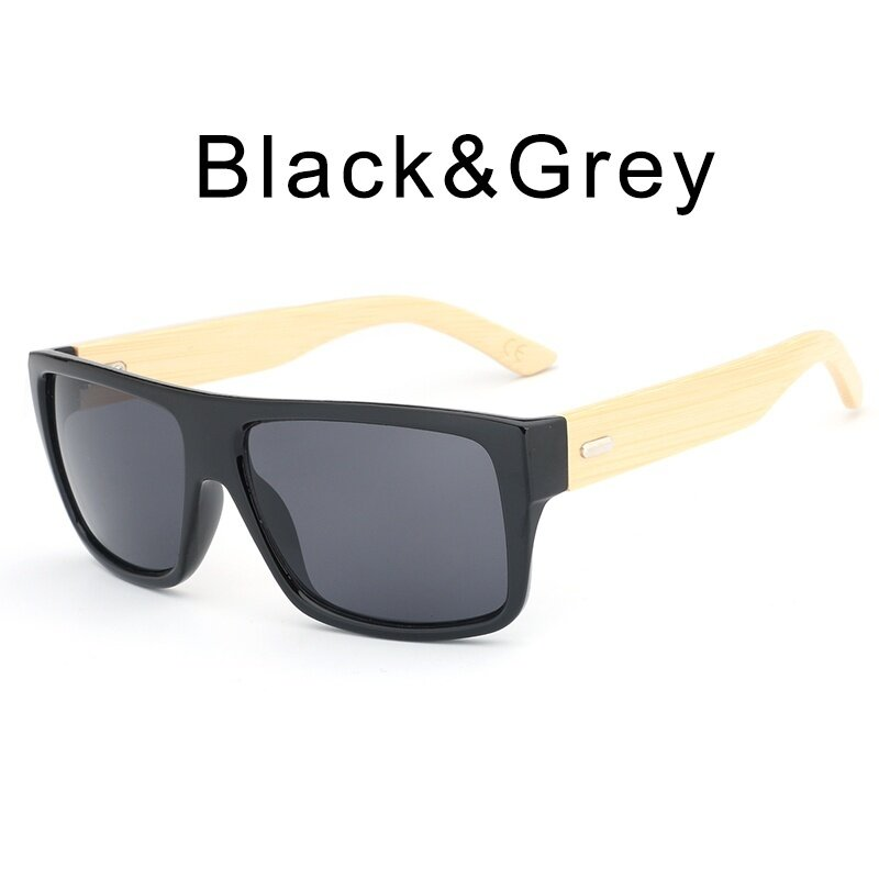 15a287ee606f0 HDCRAFTER Retro Wood Sunglasses Men Bamboo Sunglass for Women Brand  Designer Anti UV Goggles Mirror Sun